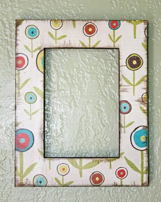 Using Paper to Decorate a Frame | Decorating, Woods and Decorative paper