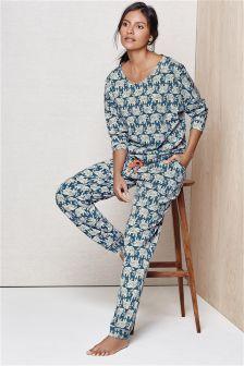 1fe11b1bd19ad Navy Elephant Print Pyjamas | sleep N lounge | Pyjamas, Pajamas ...