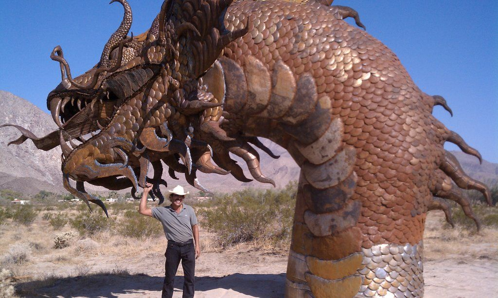 Artist finishes borrego sea serpent sea serpent metal