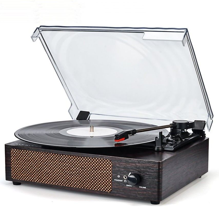 Wockoder Record Player With Built In Stereo Speakers Review Top Record Players Vintage Record Player Vinyl Record Player Turntable Record Player
