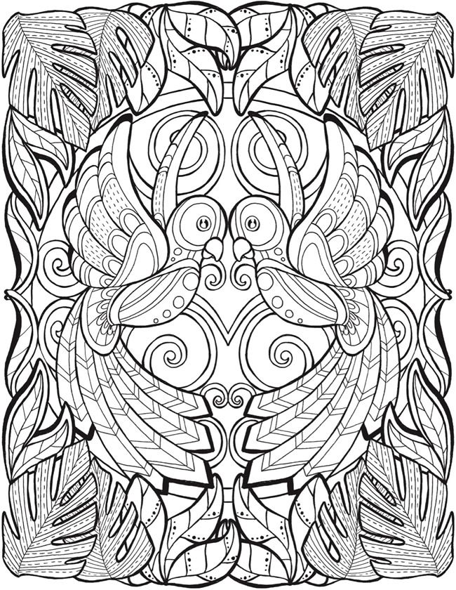 Welcome to Dover Publications ... free coloring book page ... Birds ...