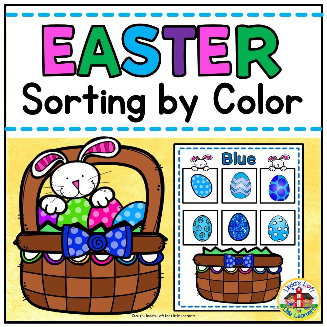 Easter Sorting By Color Activity For Preschool With