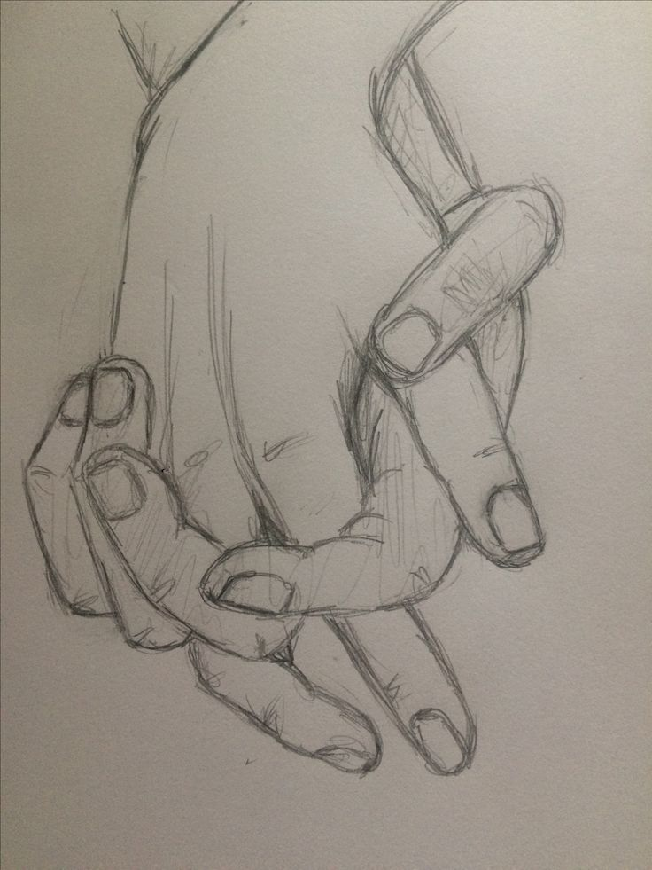 Photo of Pencil drawing exercise sketch holding hands 4 pinkish coconut #Hands #d …