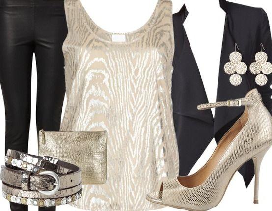 Das Outfit für einen glänzenden Auftritt auf jeder Party http://stylefru.it/s12995