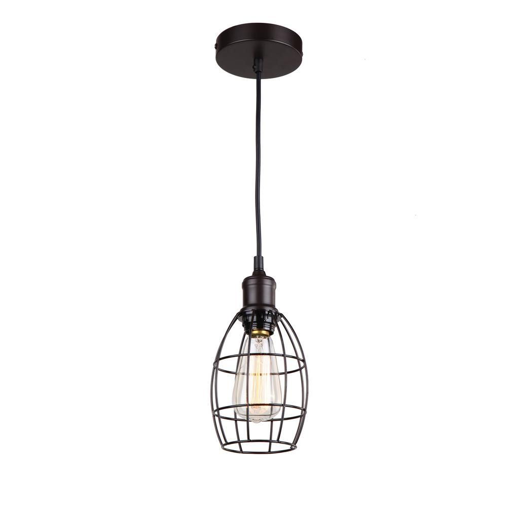 Present A Conuous Look And Feel To Your Residence By Installing This Illumine Light Ebony Bronze Pendant