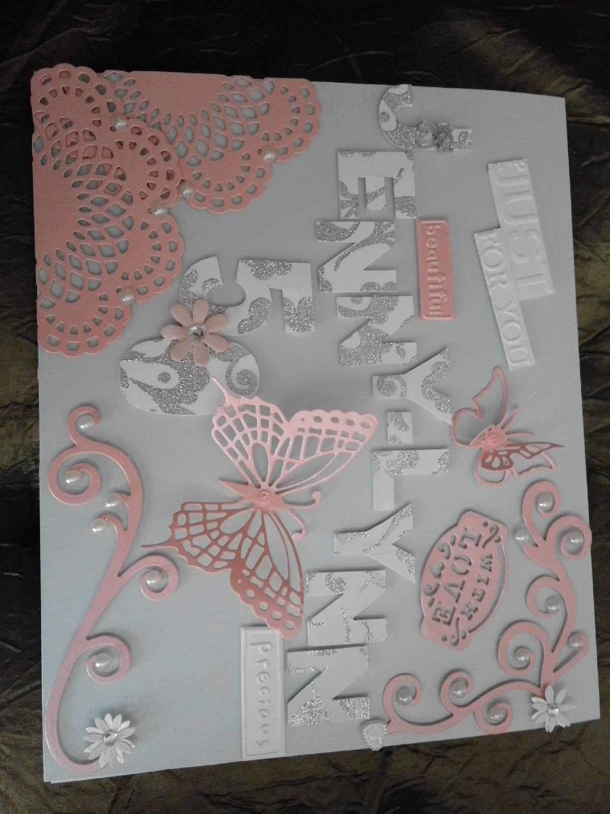 Personalized th birthday card done in a and a handmade