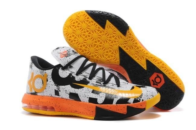 nike zoom kd vi mvp mens shoes white yellow orange 0