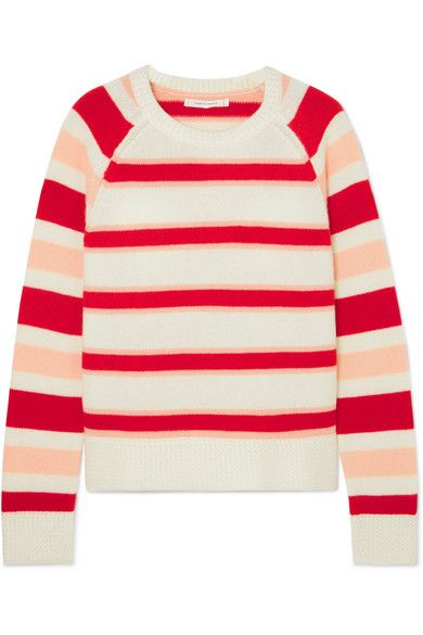 Chinti and Parker | Trapeze striped cashmere sweater | NET A