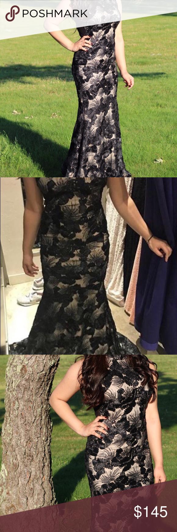 Black lace prom dress lace prom dresses black laces and floral lace