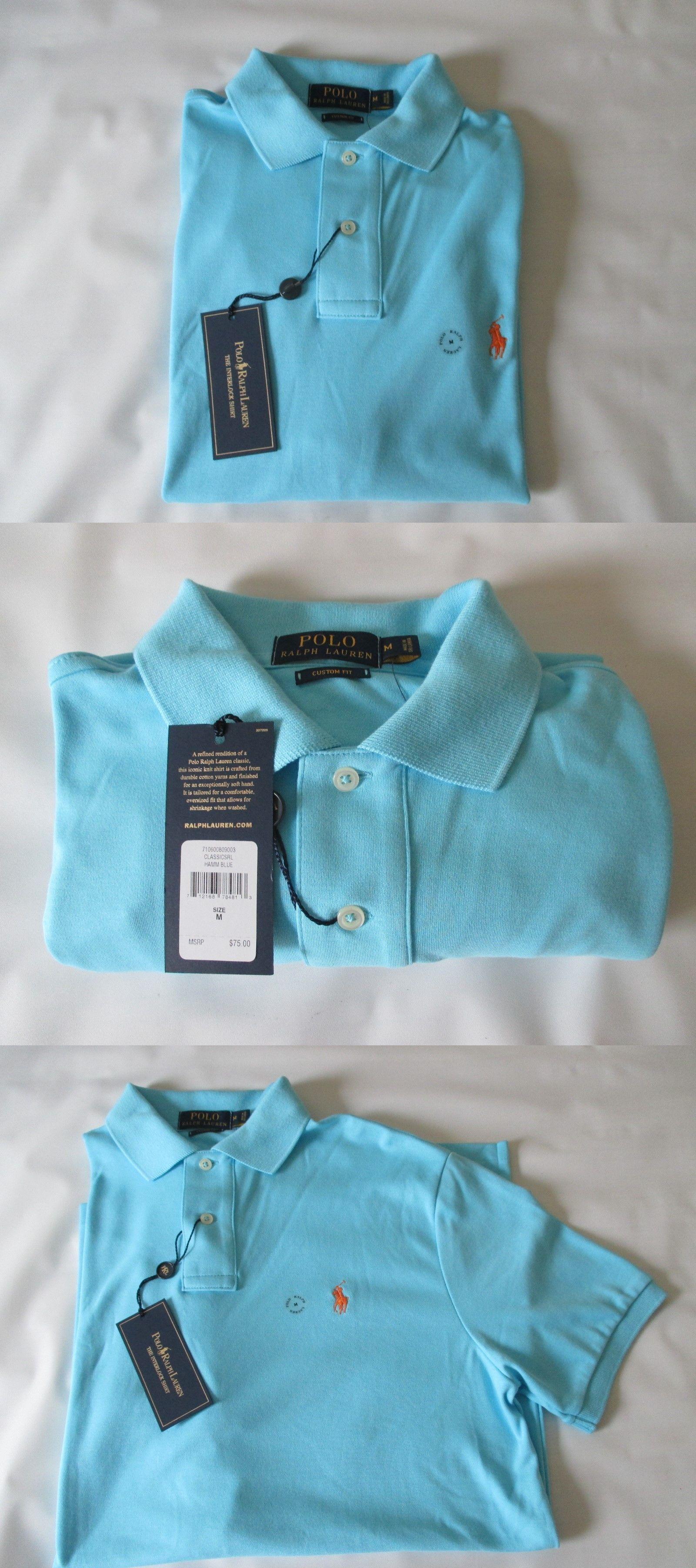 ff55dba0c Casual Shirts 57990  Nwt Ralph Lauren Blue Soft 100% Cotton Polo Shirt - Men