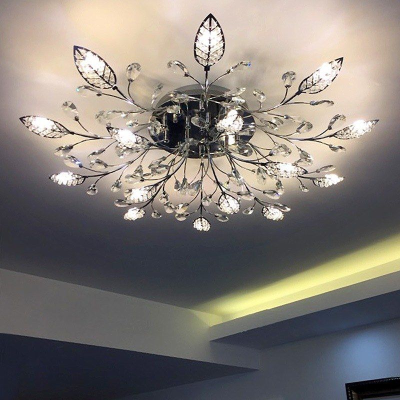 Find More Ceiling Lights Information About Modern Ceiling Lights Flower Led Lamp For Living Room Bedr Modern Ceiling Light Ceiling Lights Crystal Ceiling Lamps