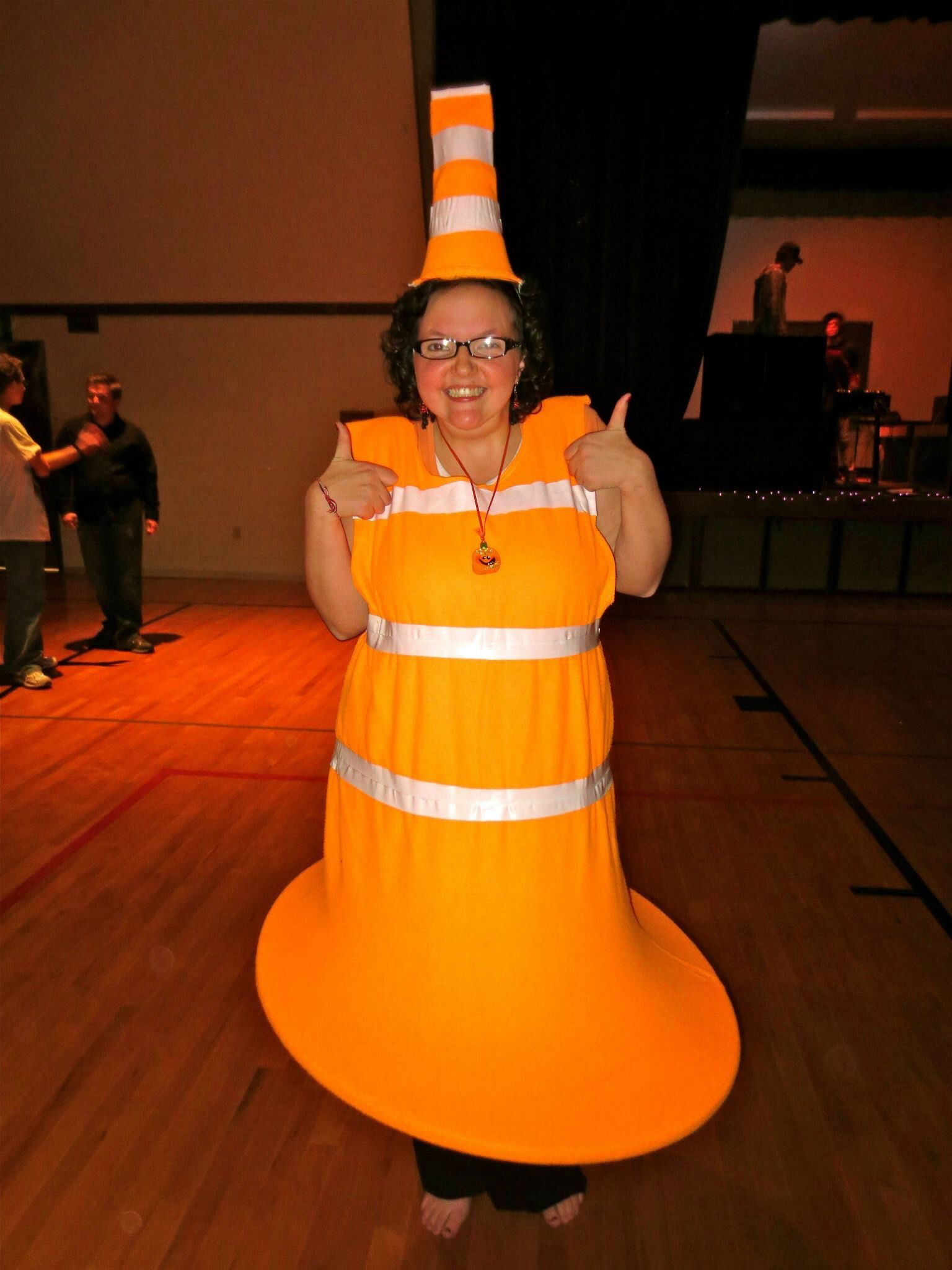 traffic cone halloween costume
