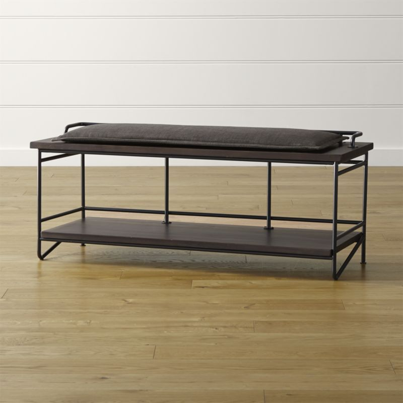Andes Bench With Cushion Crate And Barrel Muebles Casitas Casas