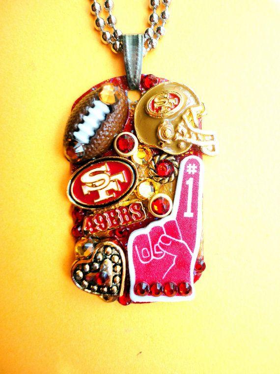 San Francisco 49ers  Dog Tag Pendant Number 1009 by BradosBling, $39.99