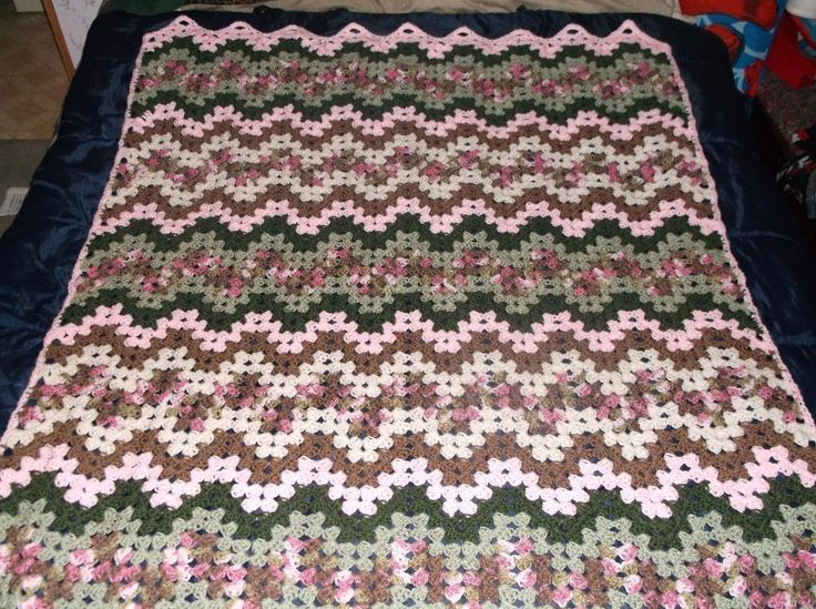 Free Variegated Ripple Afghan Patterns | Crocheting: Granny Ripple ...
