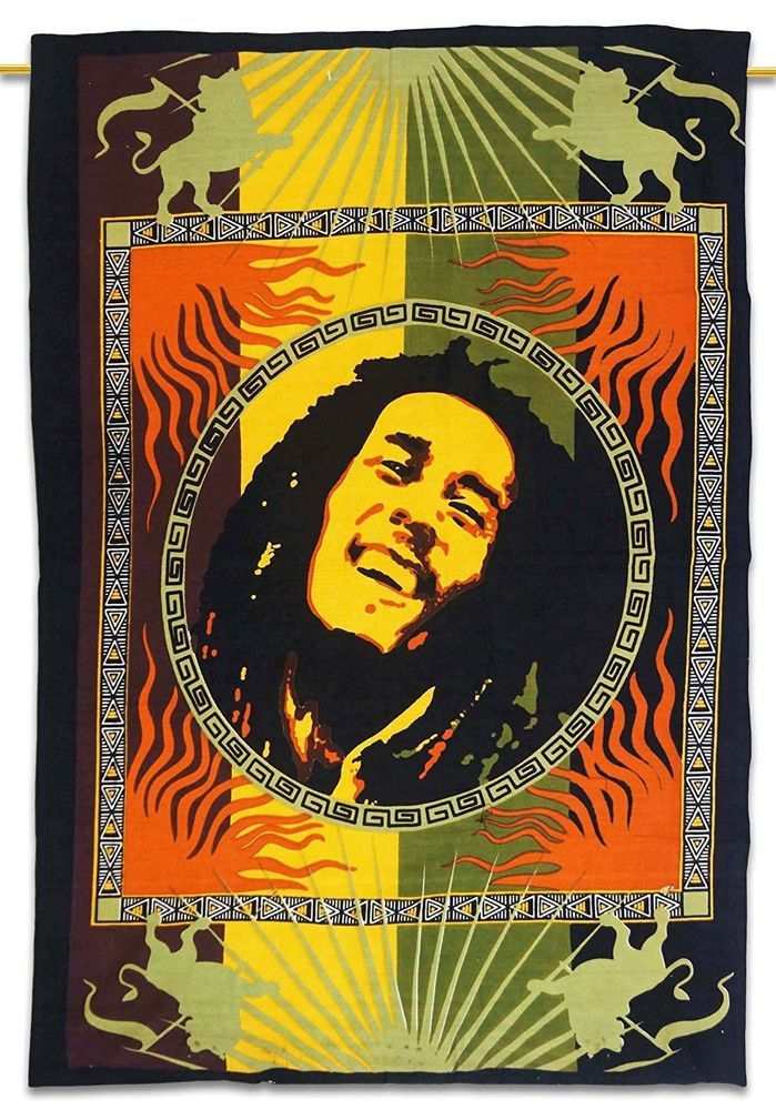 Bob Marley Wall Hanging Indian Cotton Tapestry Poster Size Wall ...