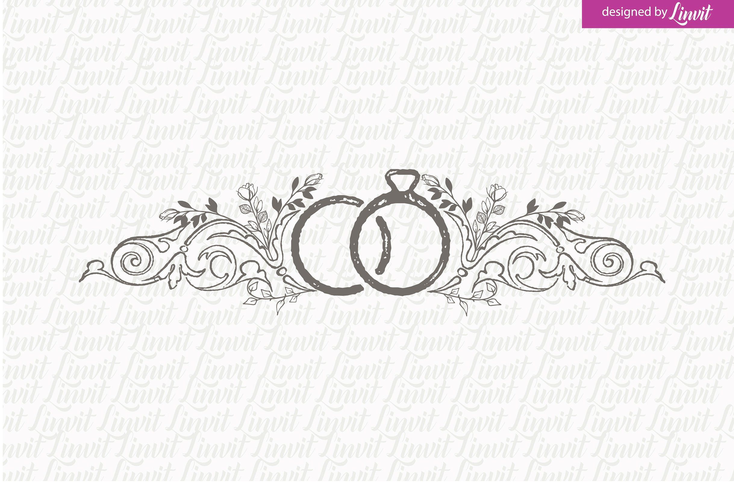 Vintage Ring Wedding Logo With Images Wedding Logos Wedding