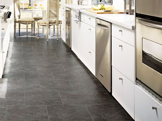 Download Wallpaper White Kitchen Charcoal Floor