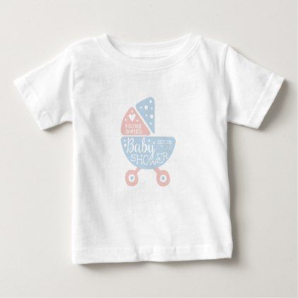 Baby shower invitation design template with stroll baby t shirt baby shower invitation design template with stroll baby t shirt filmwisefo