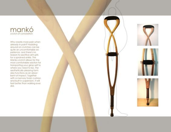 mankó wooden crutches: Designer\'s age: http://bathodesign.com ...