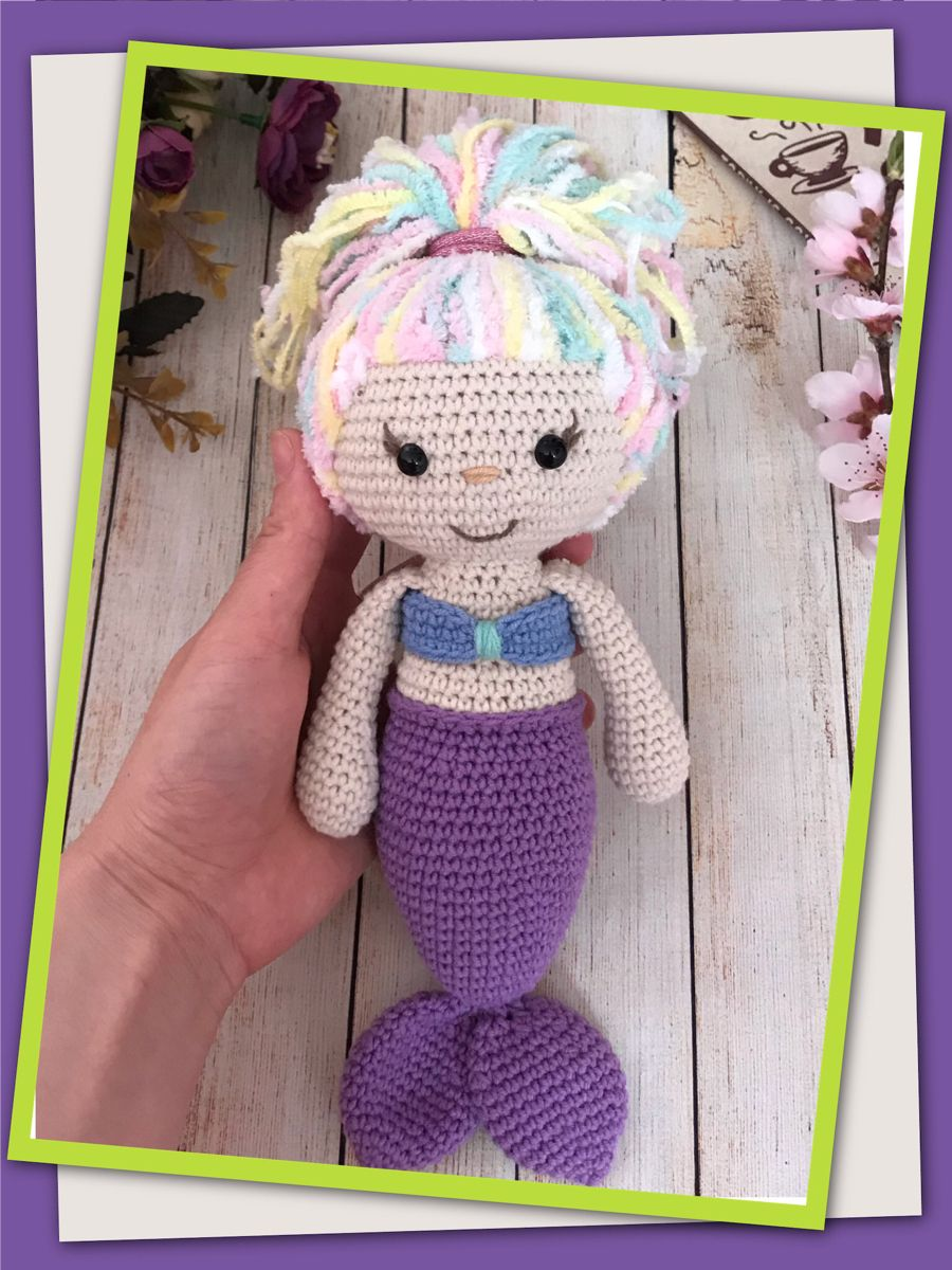 Crochet mermaid pattern,Amigurumi mermaid