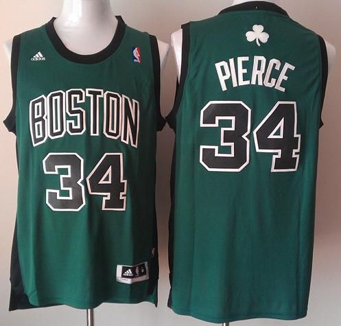 121fdff18 Boston Celtics 34 Paul Pierce Green Revolution 30 Swingman NBA Jersey Black  Number