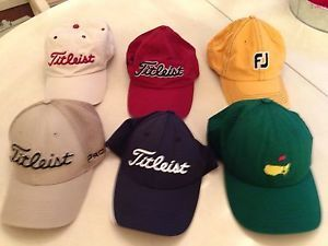 Lot of 6 Titleist Masters Foot Joy Golf Baseball Cap Hat FSU All EUC ... 3cd97dcc137