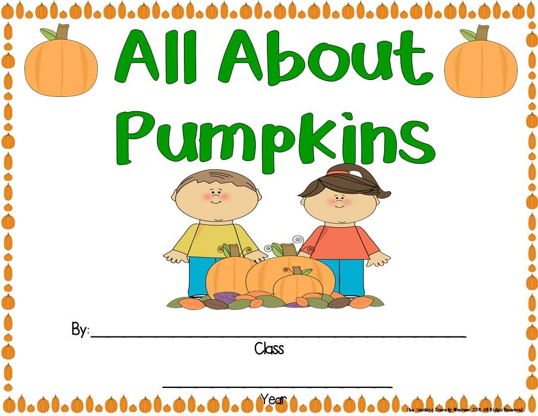 Pumpkin Unit Activities Amp Centers