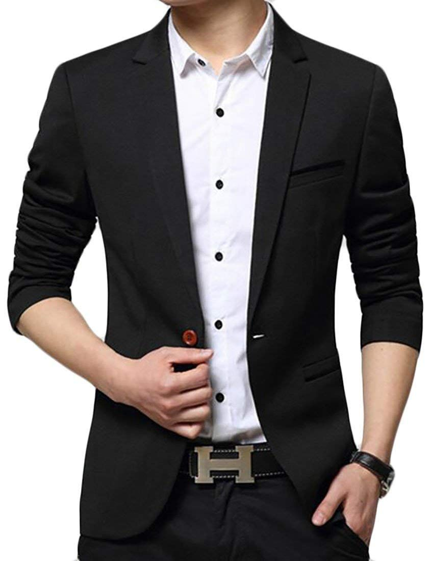 8753a833415  Affiliate  Generic Men s Business Slim Fit Pocket Solid Color Business  Working Suit Blazers at Amazon Men s Clothing store