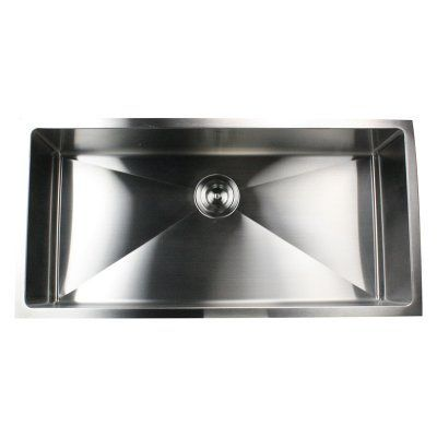 Nantucket Sinks Sr3618 16 Pro Series Single Basin Under Stainless Steel Kitchen Sink Stainless Steel Kitchen Sink Undermount Undermount Kitchen Sinks