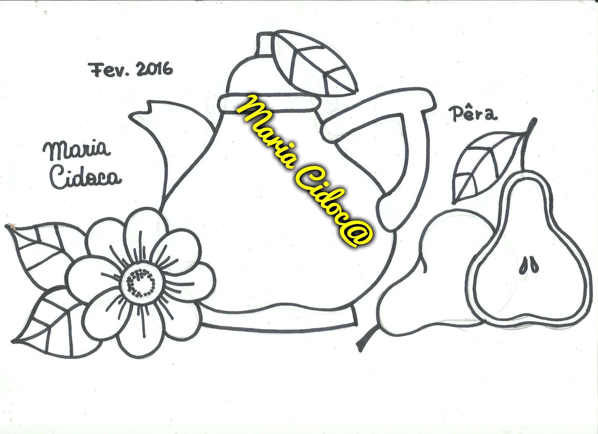 Bule Pera Tetera Pera Pear Tea Pot Disenos De Fruta Dibujos De Frutas Pintar En Tela