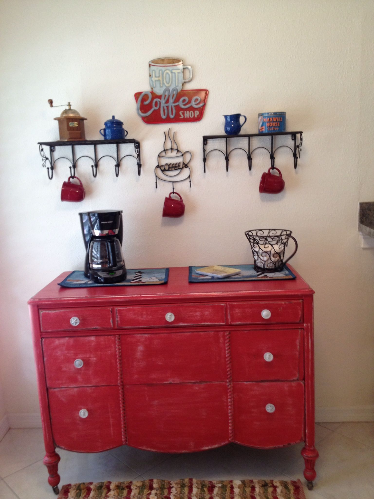 Pinner My Coffee Bar Inspired By Others Seen On Pinterest Coffee Bar Home Home Coffee Stations Decorating Coffee Tables