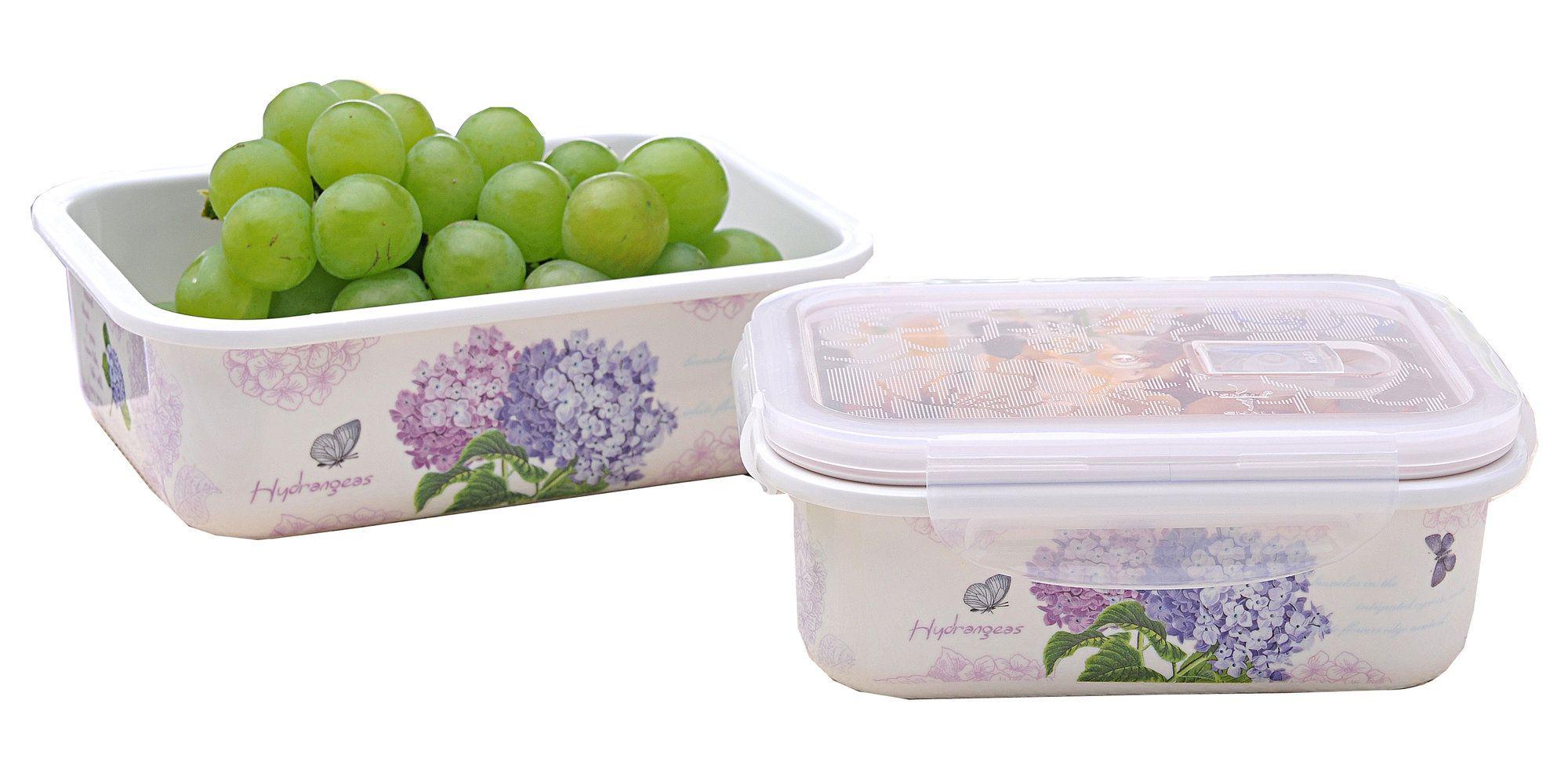 Helenie Melamine Rectangular 52 Oz Food Storage Container Storage