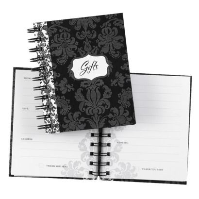 damask gift record book black wedding bridal showers and weddings