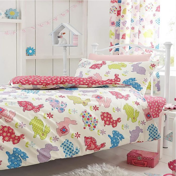 Bunnies Single Bedding Cotton Rich Cute And Colourful Duvet Cover Pillowcase