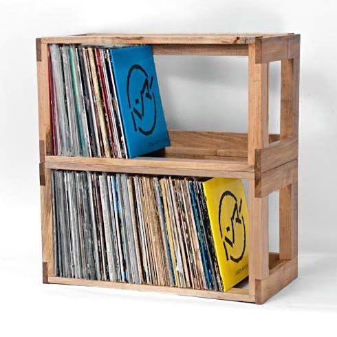the mapleshade interlocking record shelf system organize. Black Bedroom Furniture Sets. Home Design Ideas
