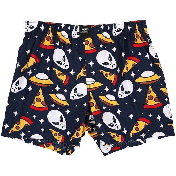 5903d42f397 Vans Old Skool Woven Boxers (Aliens  amp  Pizza) Men s Underwear ( 20)