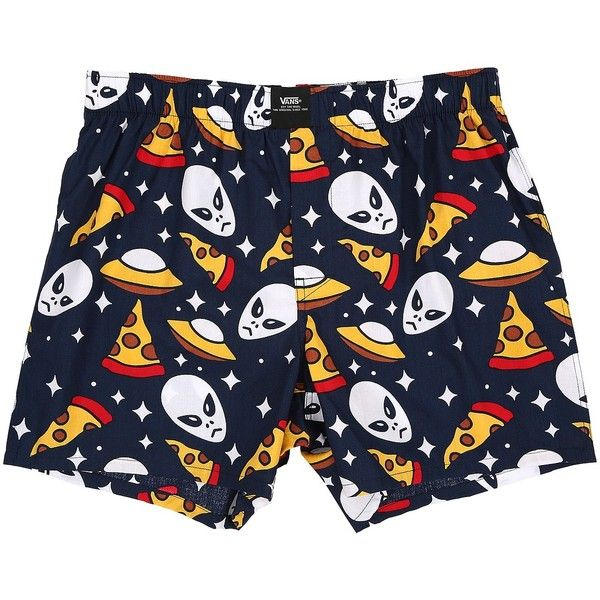 833362e04db4 Vans Old Skool Woven Boxers (Aliens & Pizza) Men's Underwear ($20)