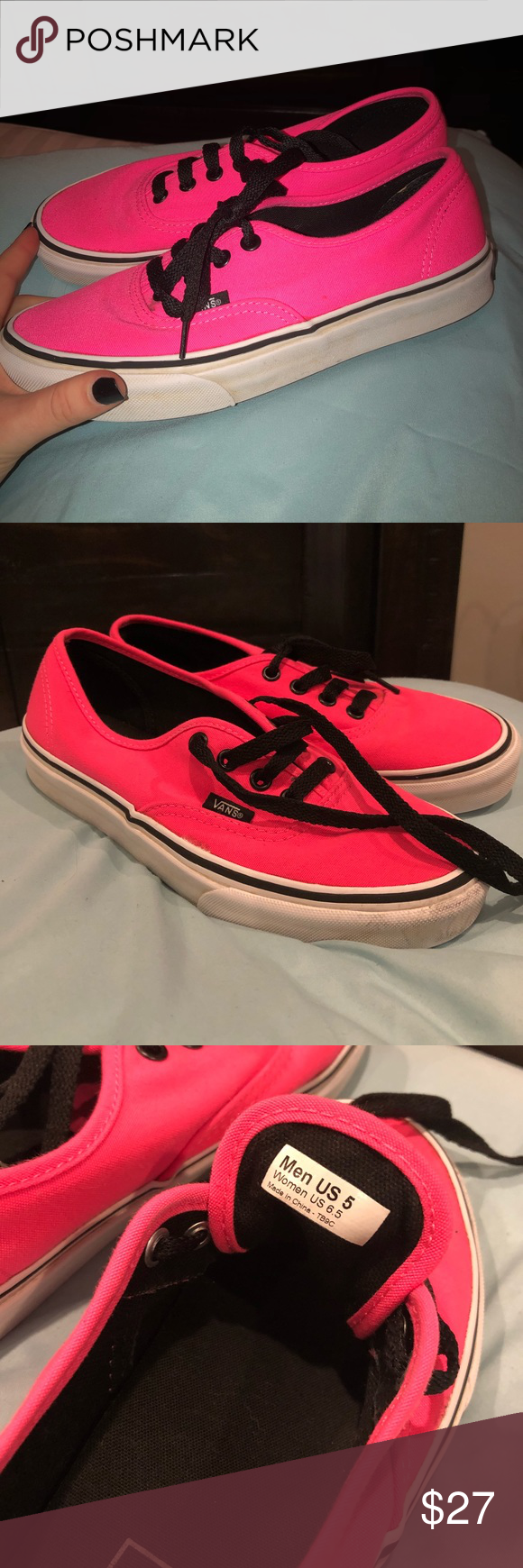 9dd03f0139440d Hot Pink Vans women s size 6.5 or men s size 5 hot pink original vans! in  very good condition and has plenty more wear in them shoot an offer!