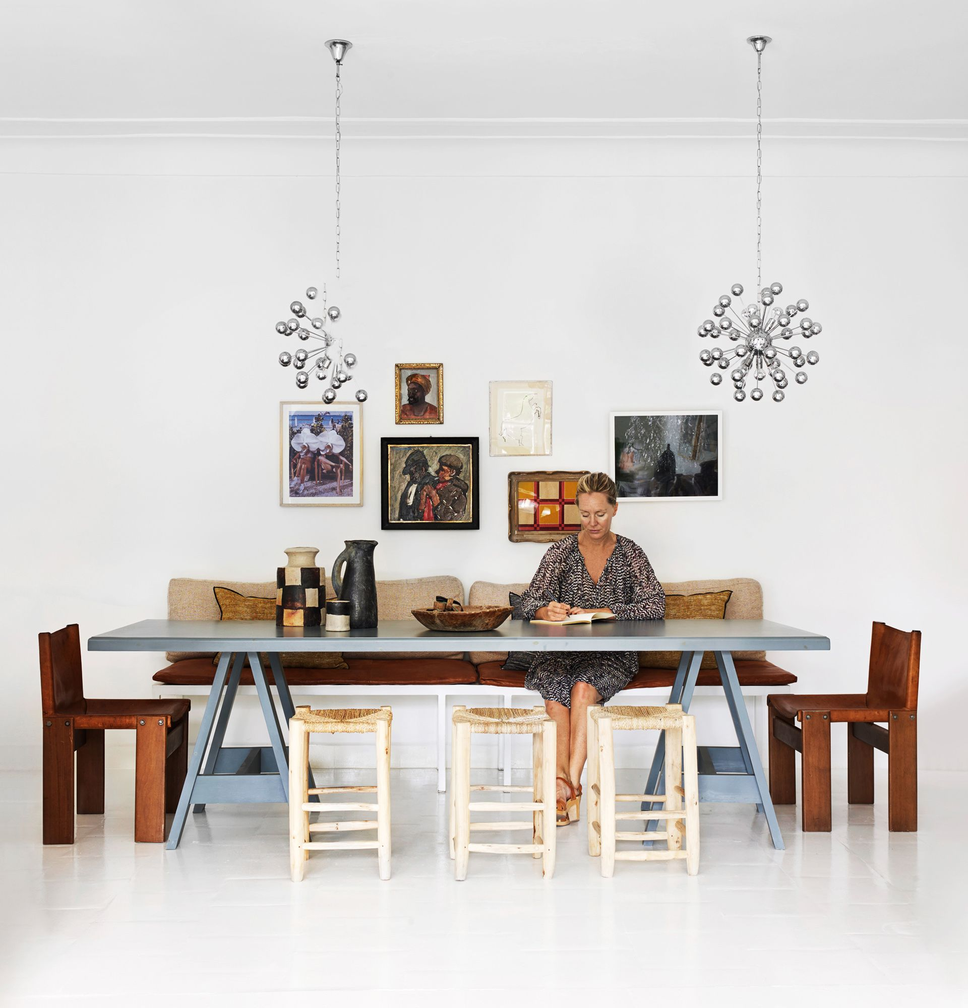 Rustic dining room from the Moroccan home of Kulchi owner Cassandra ...