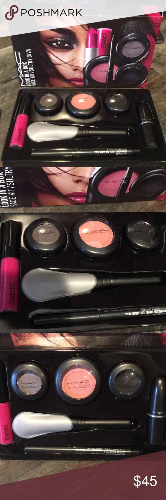 Mac Look In A Box 6 Piece Makeup Gift Set Makeup Gift Sets Mac Looks Gift Set