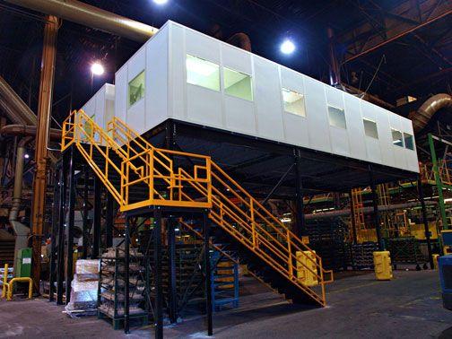 Modular In-plant Office on a Mezzanine | Mezzanines | Pinterest ...