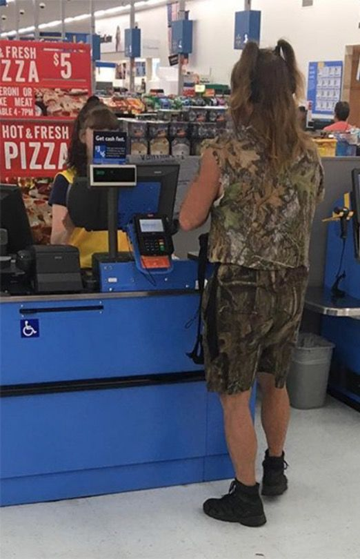 Camo Shorts and Pigtails at Walmart Funny People of Walmart - walmart careers