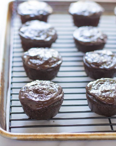 Salted Chocolate Olive Oil Cupcakes