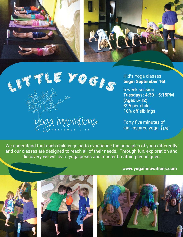 Kid's Yoga Classes - Starting September 16th! #LittleYogis