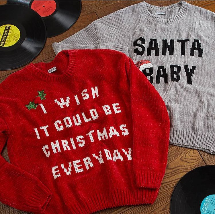 Chenille Christmas Jumper With Music S M L I Wish It Could Be Christmas Everyday Primark Jumpers Christmas Christmas Jumpers Christmas Jumper