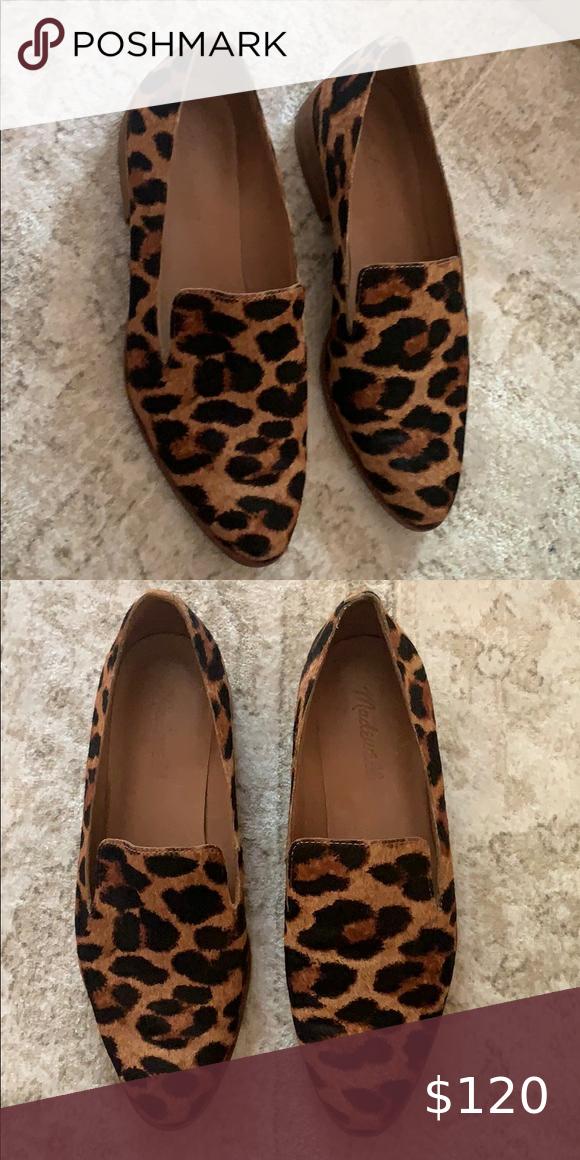 Madewell frances loafer leopard size 7