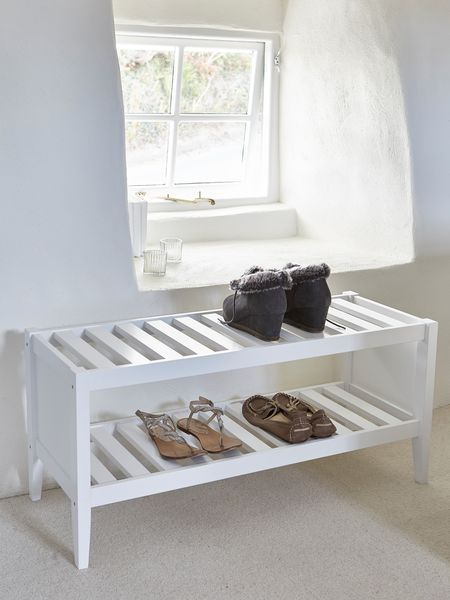 Interiors Accessories Nordic Style White Wooden Shoe Rack
