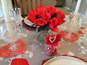 Our Home Away From Home: DOLLAR TREE VALENTINE'S TABLESCAPE