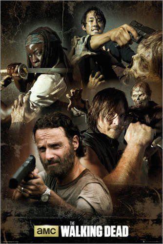 Poster The Walking Dead Collage Preiswertes Plakat Xxl